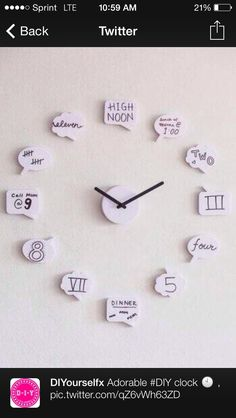 DIY Clock Must do