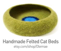 Cozy and stylish handmade felted cat beds by Olemae