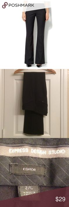 Express Design Studio Editor slacks Sz 2L In excellent condition, no stains or pulls, black, SIZE 2, waist 31 inches, inseam 34 inches long, bundle up for further savings 💕 Express Design Studio Pants Straight Leg