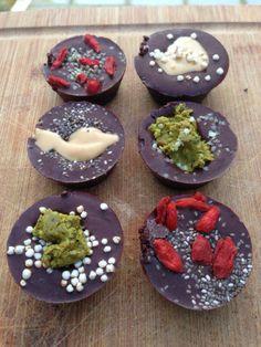 Raw Vegan Gluten-Free Chocolate Cups for Valentine's Day