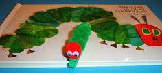 Book & Craft = Hungry Caterpiller and Magnet clothes pin caterpiller.  Great book, great magnet for frig magnet for school or art.