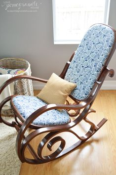 Bentwood Rocking Chair Makeover Chair makeover From drab to fab, how to reupholster a chair the easy way.
