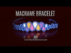 Macramé Drops Bracelet by Macrame School. TUTORIAL for this bracelet you can see here: . Please check out more Macrame Bracelets in playlist: . Here you have a lot of choice of Macrame pattern tu Macrame Bracelet Patterns, Macrame Bracelet Tutorial, Macrame Patterns, Macrame Jewelry, How To Do Macrame, Yarn Bracelets, Paper Quilling Jewelry, Micro Macramé, Macrame Projects