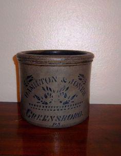 Hamilton & Jones 1 gallon crock , Greensboro ,PA