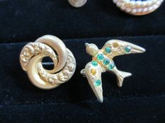 Swallow Scatter Pin Brooch Pair Victorian by LeapingFrogDesigns, $9.99
