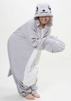 How cool are these are these animal onesies   )Seal Adult Onesie Pajamas  Adult 042053e79