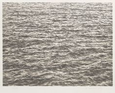 Vija Celmins, Untitled (Ocean), from the portfolio Untitled, 1975