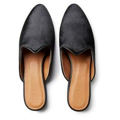 Le Monde Beryl's Black Calf Hair Venetian Mule is handcrafted in Italy. It is made with a black leather piping and a memory foam cushioned leather insole. Flat Mules, Black Leather Flats, Venetian, Slippers, Hair, Shopping, Shoes, Fashion, Moda