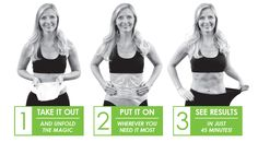 Unfold and apply to any part of your body to tighten, tone and firm! www.fitpro365.com