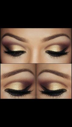 gold and black for dark eyes by DRAGONFLIES