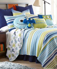 Look at this Monster Quilt Set on #zulily today!