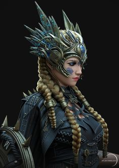Kai Fine Art is an art website, shows painting and illustration works all over the world. Character Modeling, Character Art, Character Ideas, Guerrero Tattoo, Viking Life, Viking Art, Hair System, Dark Tattoo, Model Face
