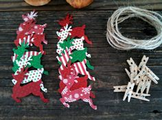 Christmas Reindeer DIY Banner Kit Christmas Decoration by SweetThymes