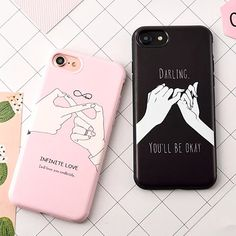Fashion Funny Letter Case For iphone 7 Case For iphone7 7 PLus 6 6S Back Cover Cute Cartoon Smile Couples Phone Cases Capa Coque