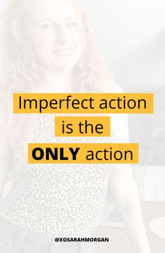 I keep seeing people talk about taking IMPERFECT ACTION as if the perfect action exists.⠀⠀⠀⠀⠀⠀⠀⠀⠀ Finding Motivation, Motivation Success, Success Mindset, Girl Boss Quotes, Productivity Apps, Progress Not Perfection, People Talk, Inspiring Quotes, Personal Development