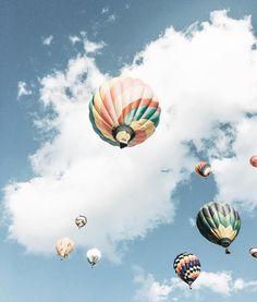 @happilyeverallen • summer. Hot air balloons. Hot air balloon. Blue skies. Bucket list. America. Blogger. Blogger style. Vsco. Day dream. Inspiration. Love.