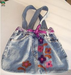 We sew bags from old jeans and denim . Compilation photos Шьем Сумки из старых джинсов и джинсовой ткани. -