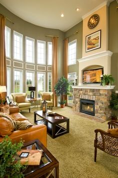 Look at those beautiful windows!  Family Room   #mykchdreamhome