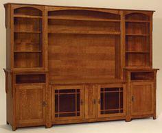 33% OFF Amish Furniture: Landmark Entertainment Center: Oak