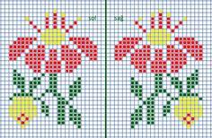 Kaksi kukkaa Small Cross Stitch, Cross Stitch Letters, Cross Stitch Bookmarks, Cross Stitch Rose, Cross Stitch Flowers, Cat Cross Stitches, Counted Cross Stitch Patterns, Cross Stitching, Embroidery Stitches