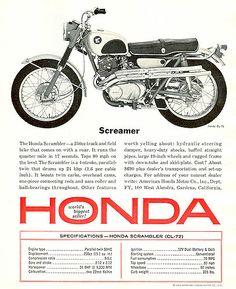 Honda Motorcycles | 1965 Honda CL-72 250 Scrambler ad | Insomnia Cured Here | Flickr