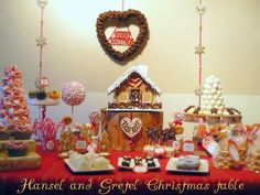 Hansel and Gretel gingerbread party dessert table #gingerbread #desserttable