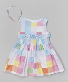 Look what I found on #zulily! Rainbow Patchwork Dress & Headband - Infant, Toddler & Girls by Richie House #zulilyfinds