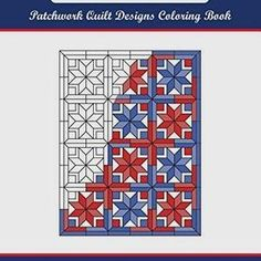 Striking and beautiful results can be achieved with the creative and imaginative use of color on these quilt patterns in Patchwork Quilt Designs Coloring Book.