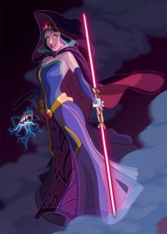 """""""Sith Snow White"""" - A link between Disney princess and Star Wars fandom. Two very different characters are being juxtaposed, adding the evil forces of Star Wars to the whimsical imagery of Snow White. The result? A princess who can fight back. Disney Star Wars, Disney Pixar, Art Disney, Disney And Dreamworks, Disney Love, Disney Magic, Evil Disney, Punk Disney, Frozen Disney"""