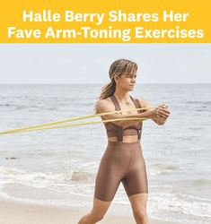 "Halle Berry shared a workout designed ""to wake up the biceps, triceps, and shoulders."" Losing Weight Tips, How To Lose Weight Fast, Fitness Tips, Fitness Motivation, Lee Thomas, Arm Toning Exercises, Arms And Abs, Friday Workout, Fitness Design"