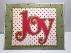 Joy Christmas Card//Merry Christmas Card//Holiday by MyArtLyfe
