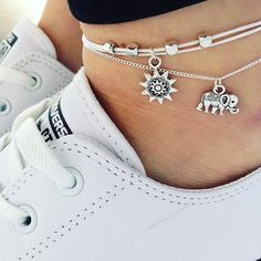Shoeselfee Lucky Elephant Anklets