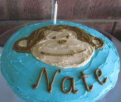 Smart Party Planning: Home Made Celebration Cakes, Monkey Cake