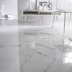 Carrelage sol et mur intenso marbre blanc Rimini CERIM Marble Floor, Tile Floor, Living Room Flooring, Living Room Decor, Floor Tiles For Home, Room Tiles, Floor Design, Interior Design, Leroy Merlin