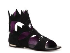 These are so different! I like them Giuseppe Zanotti Suede Gladiator Flat Sandal