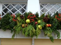 Winter Containers 2013   german boxwood stems:: faux (plastic) fruit and berries