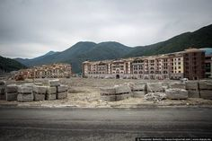 "Post-Olympics, Sochi already looks like an eerie ""wasteland. Click through for more images of this abandoned Olympic village. Abandoned Buildings, Abandoned Places, Haunted Places, Ghost City, Ghost Towns, Places Around The World, Around The Worlds, Picture Show, New Pictures"