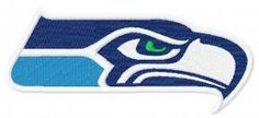 Seattle Seahawks logo machine embroidery design