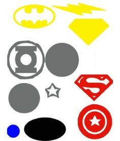 Superhero Pieces for silhouette cutting
