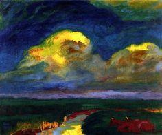 Emil Nolde - Landscape, 1925