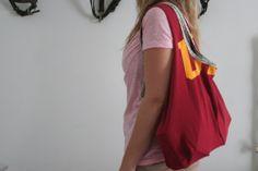 Bag tutorial using old t-shirts.