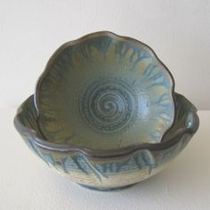 Fluted bowls by Roy Hanscom from 18 Hands Gallery for $35.00