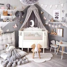 Vintage Kids Rooms - childrens decor and interior design ideas. Bedroom For Girls KidsChilds BedroomKids Bedroom PaintGirls Room - Baby Nursery Today Nursery Room, Girl Nursery, Nursery Decor, Baby Ideas For Nursery, Childrens Bedroom Ideas, Baby Room Ideas For Girls, Nursery Themes, Playroom Decor, Project Nursery