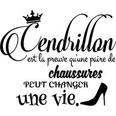 Sticker citation Cendrillon – Stickers Chambre Ado Fille - Ambiance-sticker