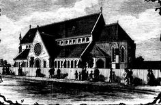 1885 St Pauls Anglican Church before erection of Bell Tower.