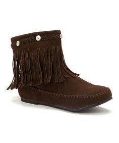 Look at this #zulilyfind! Brown Fringe Boot by Ositos Shoes #zulilyfinds