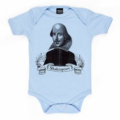 Shakespeare organic baby infant one piece by tartx on Etsy