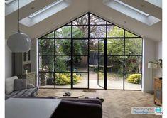 Huge Windows, Sash Windows, Windows And Doors, Gable Window, Side Return Extension, Side Door, Steel Doors, Open Plan, Bungalow