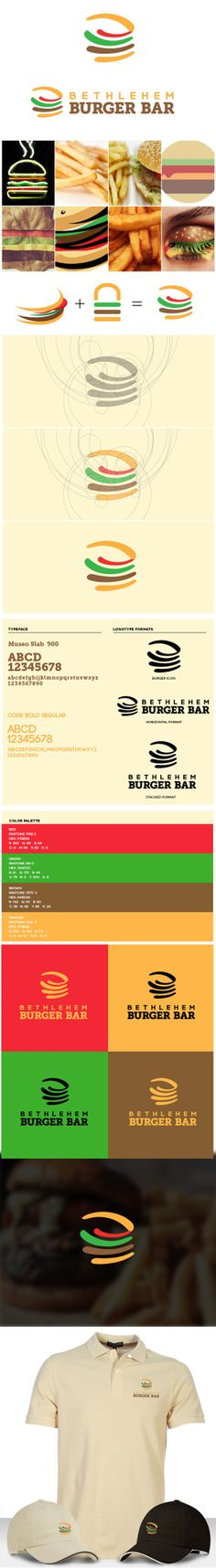 Bethlehem Burger Bar Branding by Ni4design Rob Oliver, via Behance