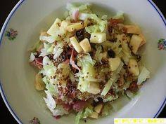 Receta Entrante : Ensalada de repollo blanco y bacon por Gupanla